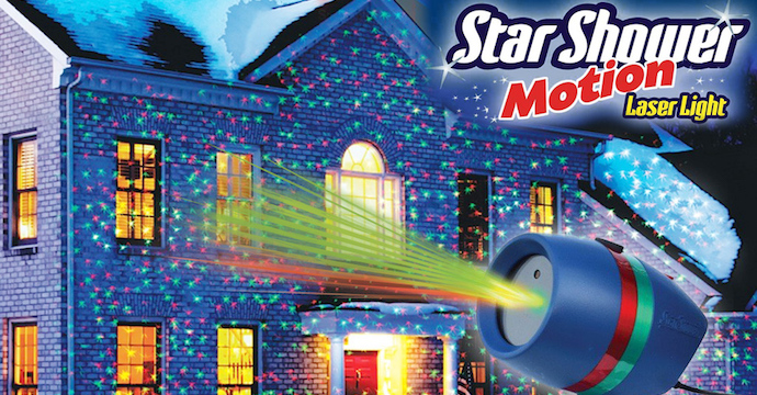 Star Shower Motion laserlys til jul
