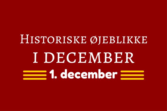 Julemånedens historie – 1. december