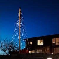 Ecolight julelyskæde til flagstang