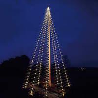 LED julelyskæde til 8m flagstang