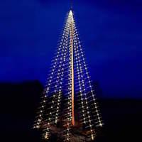 Stella LED julelyskæde til flagstang